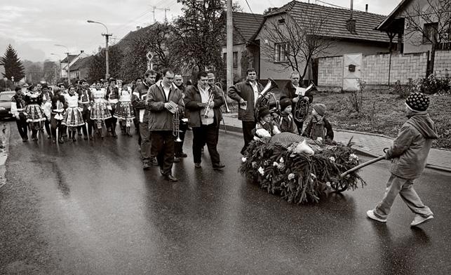 Drslavice - hodové vození berana.